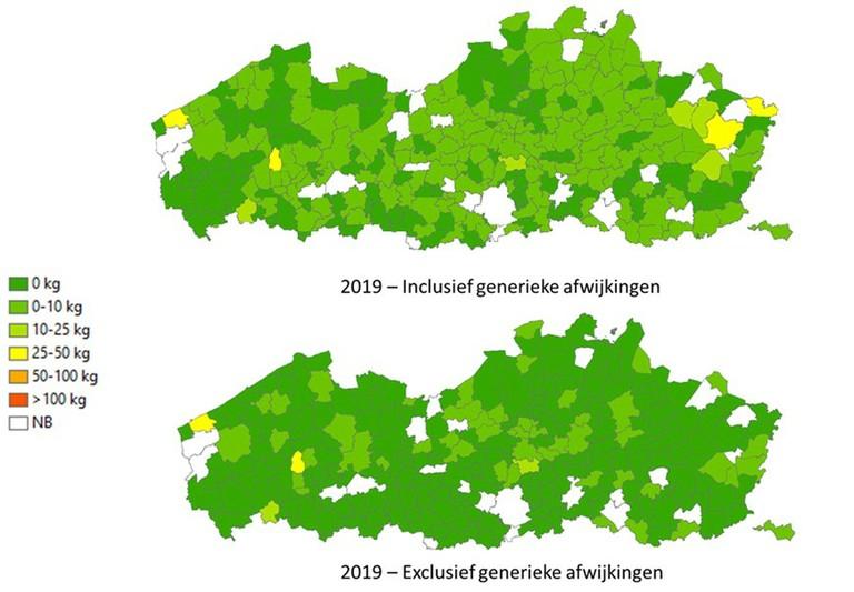 Deze kaart geeft een overzicht van de gebruiksgegevens van de gemeenten, opgedeeld in gebruiksklassen. Ter vergelijking is ook de situatie in 2010 en in 2016 opgenomen.